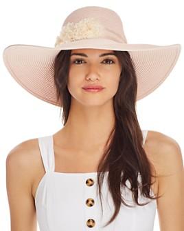 August Hat Company - Floral-Trim Floppy Hat