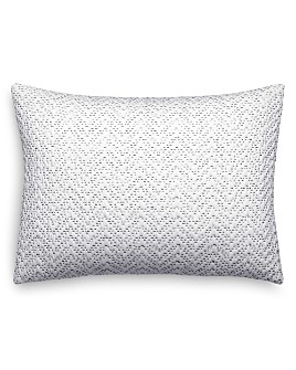 """Vera Wang - Crinkle Quilted Chevron Decorative Pillow, 12"""" x 16"""""""