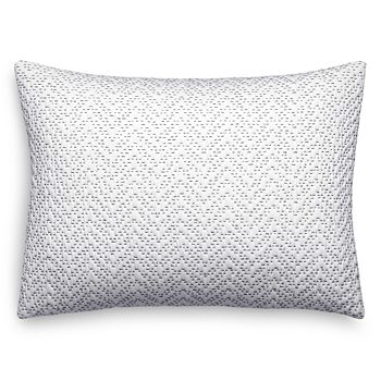 "Vera Wang - Crinkle Quilted Chevron Decorative Pillow, 12"" x 16"""