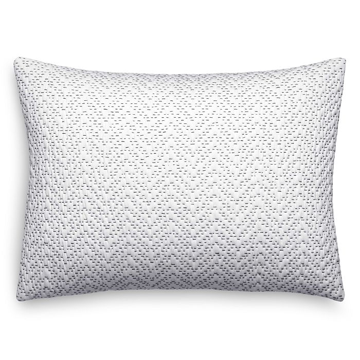 Crinkle Quilted Chevron Decorative Pillow 12 X 16