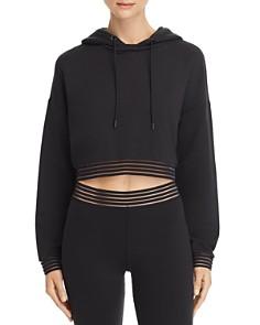 Alo Yoga - K-O Illusion-Hem Hooded Sweatshirt