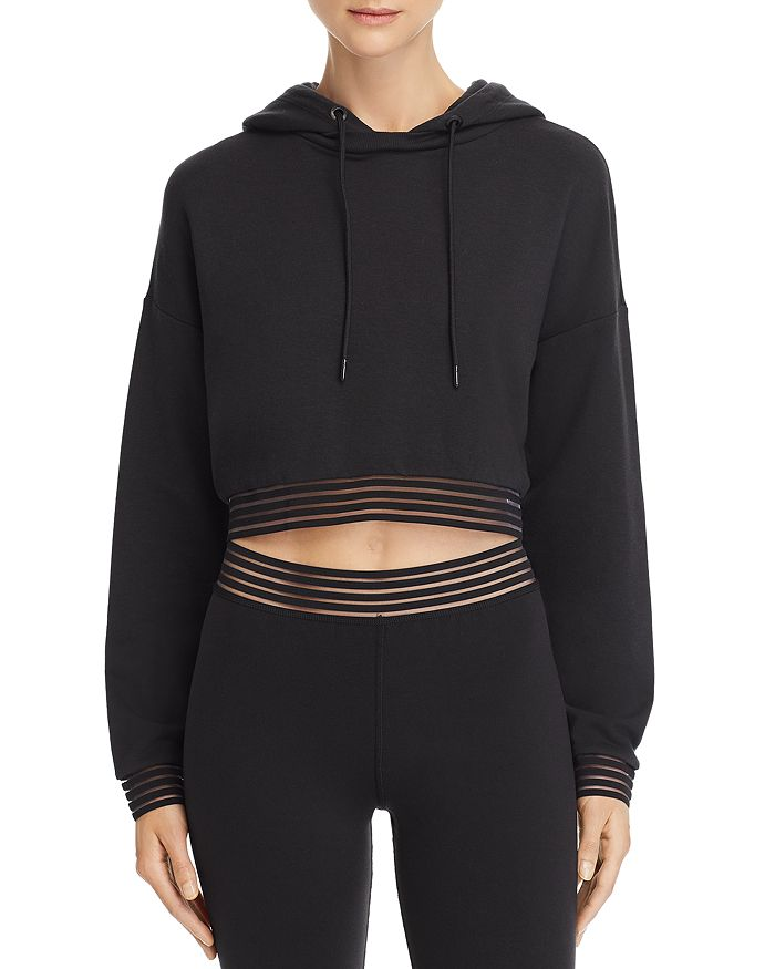 Alo Yoga - K-O Illusion-Hem Hooded Sweatshirt