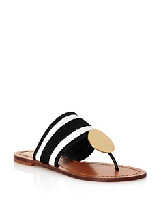 Tory Burch - Women's Patos Stripe Disk Thong Sandals