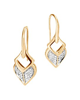 JOHN HARDY - 18K Yellow Gold Legends Naga Pavé Diamond Drop Earrings