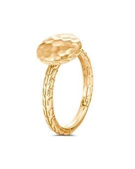 JOHN HARDY - 18K Yellow Gold Dot Hammered Ring
