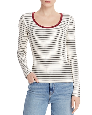 Joie Tops TAYANITA LONG SLEEVE STRIPED TEE