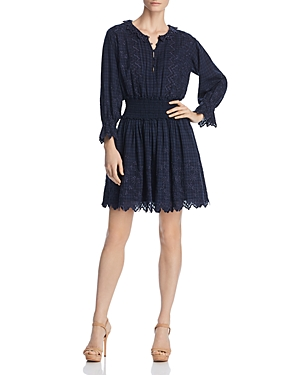 La Vie Rebecca Taylor Embroidered Voile Dress