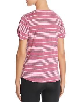 Marc New York - Striped Twist-Sleeve Tee