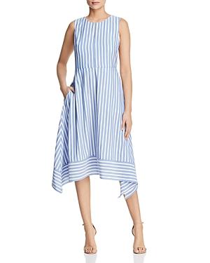 Karl Lagerfeld Dresses STRIPED HANDKERCHIEF HEM DRESS
