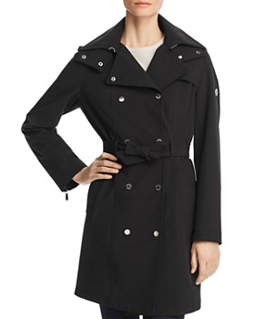 Calvin Klein - Belted Double-Breasted Front Trench Coat