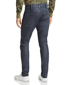 G-STAR RAW - 620 3D Zip Knee Skinny Fit in Dark Aged Wax Cobler