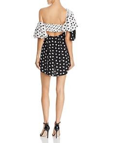 For Love & Lemons - Mae Heart Print Mini Dress