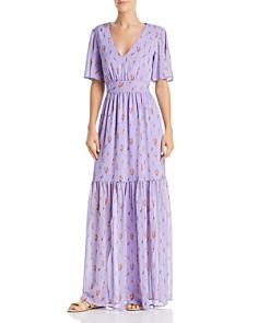 Re:Named - Tashsa Ruffled Floral-Print Maxi Dress