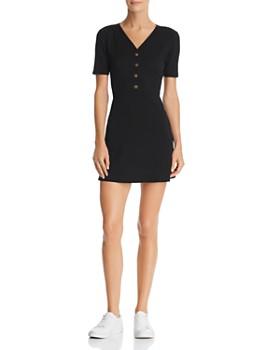 Sadie & Sage - Ribbed Button-Detail Dress