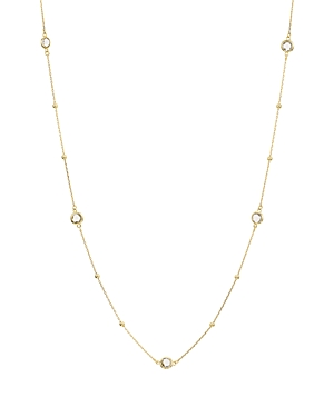Argento Vivo Accessories LONG CRYSTAL STATION NECKLACE IN 18K GOLD-PLATED STERLING SILVER, 36