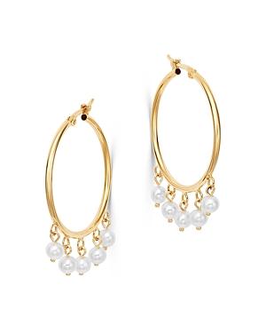 Bloomingdale's Cultured Freshwater Pearl Drop Hoop Earrings in 14K Yellow Gold - 100% Exclusive