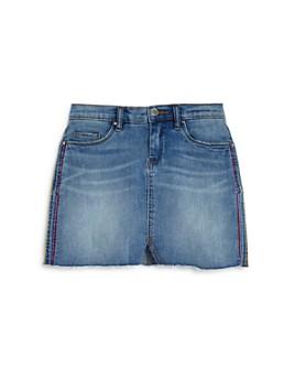 BLANKNYC - Girls' Embroidered Denim Mini Skirt, Big Kid - 100% Exclusive
