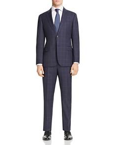 Armani - Checked Virgin Wool Regular Fit Suit