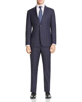 b4683111ddb4 Armani - Checked Virgin Wool Regular Fit Suit ...