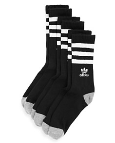 Adidas - Striped Logo Socks - Pack of 3