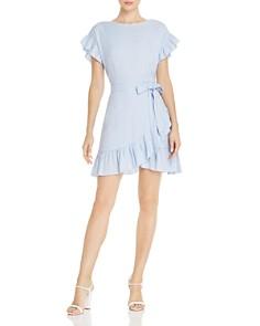 AQUA - Ruffle-Trim Tie-Waist Dress - 100% Exclusive