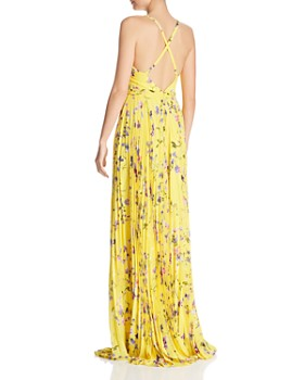 Laundry by Shelli Segal - Pleated Floral Maxi Dress