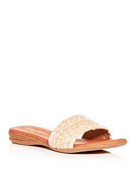 Andre Assous - Women's Nahala Woven Slide Sandals