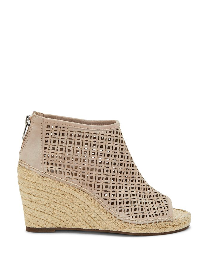 1dca584c60c Women's Lereena Caged Leather Peep Toe Espadrille Wedge Sandals