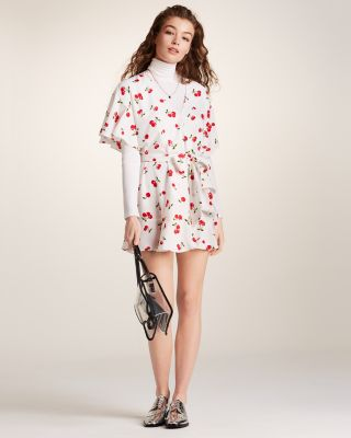 Cherry-Print Wrap Mini Dress - 100% Exclusive
