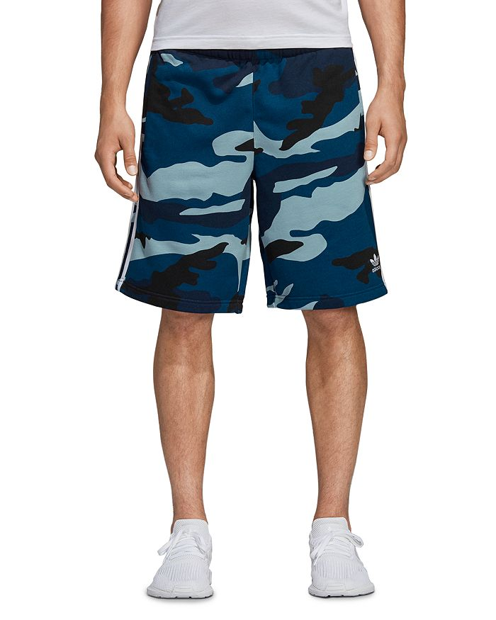 adidas Originals - Camouflage-Print French Terry Sweat Shorts
