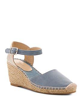 Botkier - Women's Elia Suede Ankle Strap Espadrille Wedge Sandals