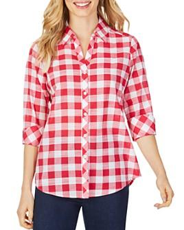 Foxcroft - Dara Gingham High/Low Shirt