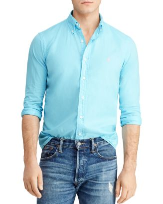 Slim Fit Button Down Twill Shirt by Polo Ralph Lauren