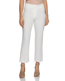 1.STATE - Textured Crepe Mini Kick Flare Pants