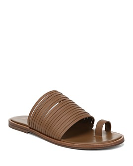 Vince - Women's Penrose Strappy Leather Slide Sandals