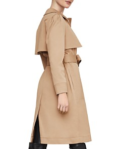 BCBGMAXAZRIA - Belted Single-Breasted Trench Coat