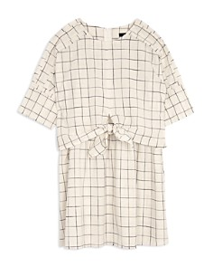 JOE'S - Girls' Tie-Front Checked Dress - Big Kid