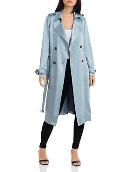 Badgley Mischka - Double-Breasted Trench Coat ... 374730cf8007