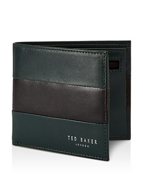 be07f3415715db Ted Baker - Stozip Contrast Leather Bifold Wallet with Zip Coin Pocket ...