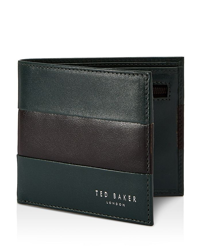 a6dc0ab2cc3f Ted Baker Stozip Contrast Leather Bifold Wallet with Zip Coin Pocket ...
