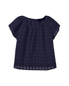 Ralph Lauren - Girls' Eyelet Flutter-Sleeve Top - Little Kid