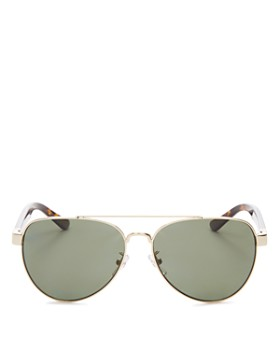 172e893933221 Tory Burch - Women s Polarized Brow Bar Aviator Sunglasses