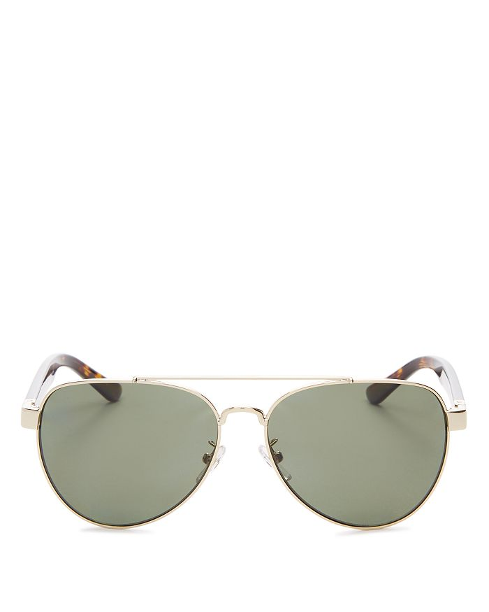 3c655190f45e Tory Burch Women's Polarized Brow Bar Aviator Sunglasses, 57mm ...