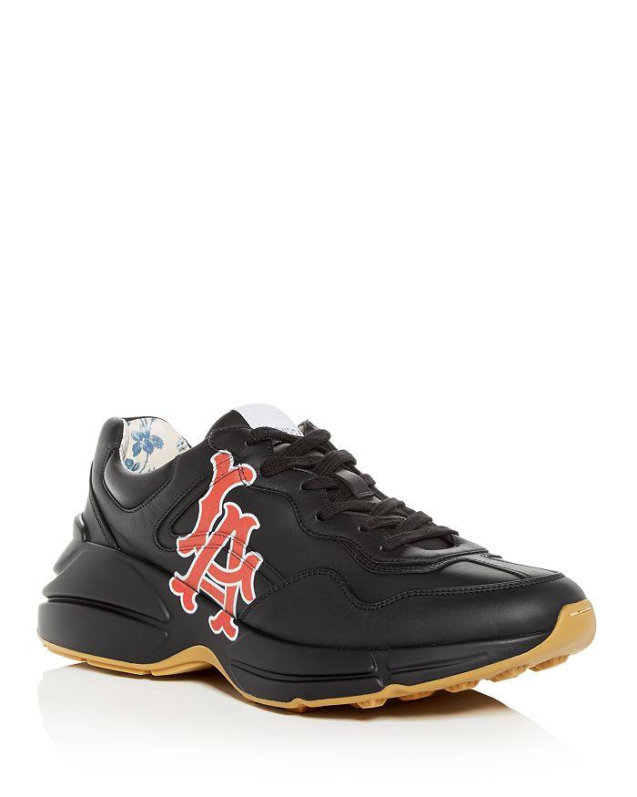 34c56757f1e7 Gucci - Men s Rhyton LA Angels Leather Low-Top Sneakers