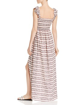 e88e6486065a ... AQUA - Smocked Geometric Print Maxi Dress - 100% Exclusive