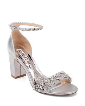 Badgley Mischka - Women's Finesse II Embellished Block Heel Sandals