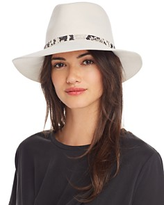 rag & bone - Embossed-Trim Fedora