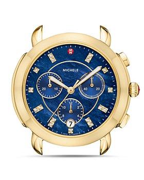 MICHELE - Sidney Gold Diamond Dial Watch Head, 38mm