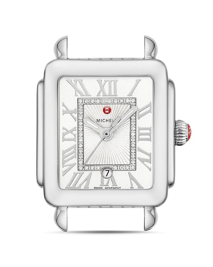 MICHELE - Deco Madison Mid Stainless-Steel Diamond White Dial Watch Head, 29mm x 31mm