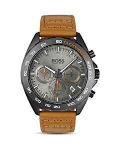 BOSS Hugo Boss - Intensity Brown Leather Strap Chronograph, 44mm
